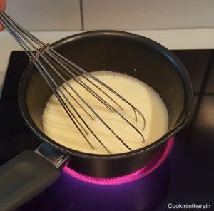 Cuisson de la crème pâtissière