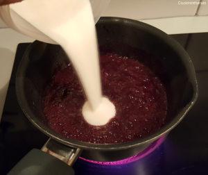 ajout du mélange sucre-pectine
