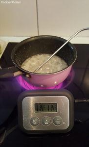 sirop de sucre en cuisson à 114°C