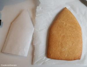 biscuit cuit à retailler