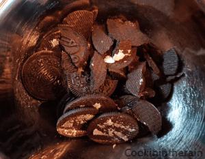 coques biscuitées oréo