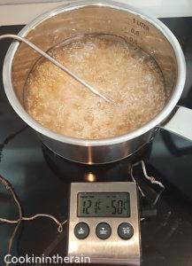 cuisson du caramel de glaçage