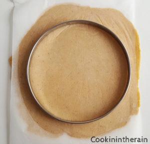 abaisse de pâte sucrée