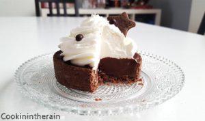 tarte chocolat liégeois coupée