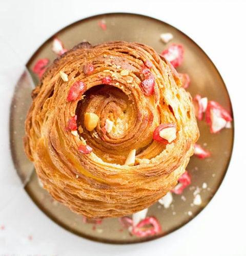 brioche feuilletée aux pralines roses de Philippe Conticini
