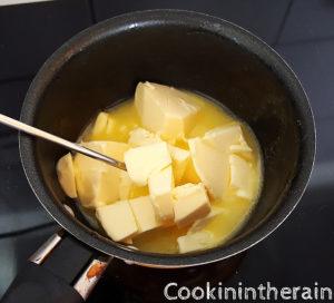 fonte du beurre à feu doux