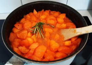 début de cuisson des abricots