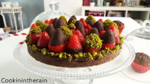 la tarte aux fraises de plus près