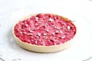 service de la tarte aux pralines roses