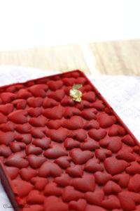 tablette de chocolat motifs coeurs