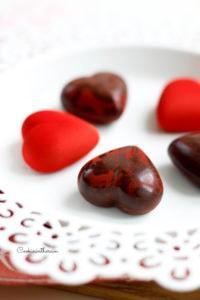 effet marbré du bonbon de chocolat
