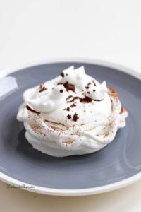 la pavlova dulcey, praliné et vanille