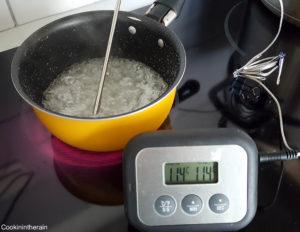 cuisson du sirop à 114°C