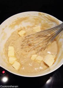 ajout du beurre doux et de cacao