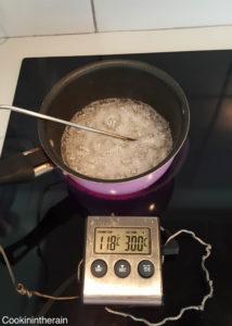 sirop de sucre cuit à 118°C