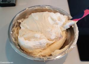 ajout de la meringue italienne à la crème pâtissière