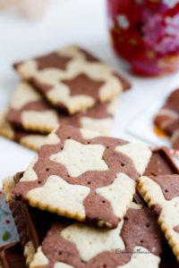 biscuits bicolores en pâtes sucrées