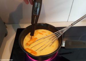 cuisson à feu doux pour atteindre 84°C