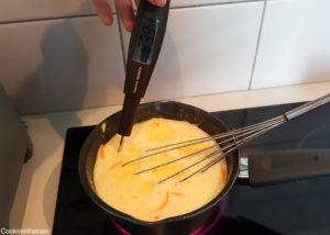 cuisson à 84°C de la crème d'oranges