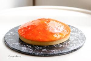service de la tarte à l'orange de Philippe Conticini