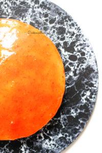 tarte à l'orange vue du dessus
