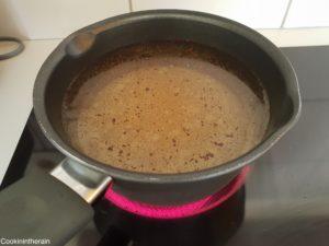 cuisson du sirop de sucre vanille