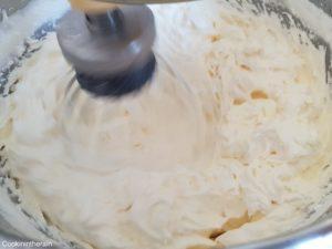réduction de la crème au beurre avec beaux sillons