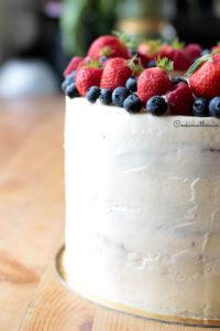 mon layer cake façon fraisier