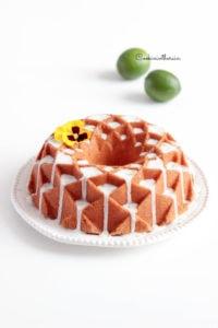 mon cake dans un moule Nordic Ware pour le design