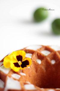 zoom sur la pensée décorative du cake
