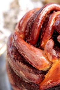 différentes strats gourmandes de nutella et myrtille