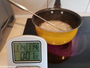 sirop prêt quand cuit à 114°C