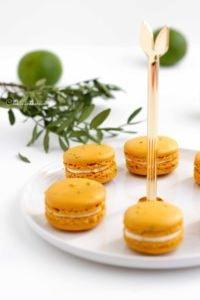 Mes macarons jaunes