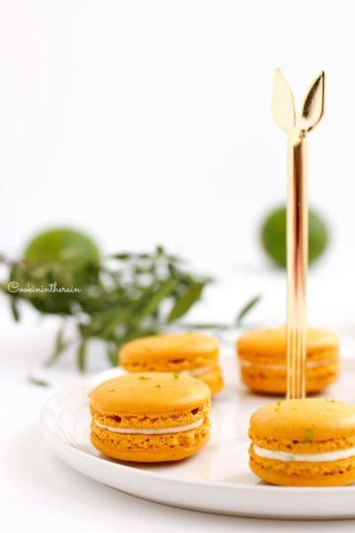 Mes macarons Timut, citron vert et ananas