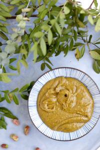 Pâte de pistaches finement mixées