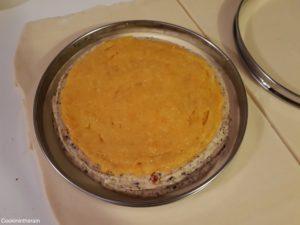 ajout de la marmelade de clémentines