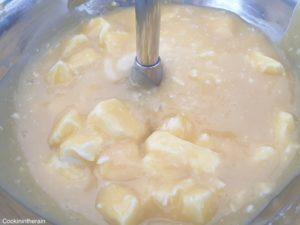 ajout du beurre froid à 35°C