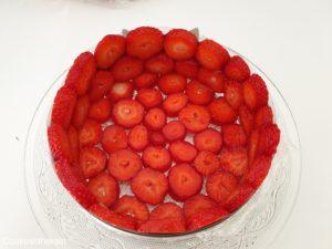 fraises découpées en tranches